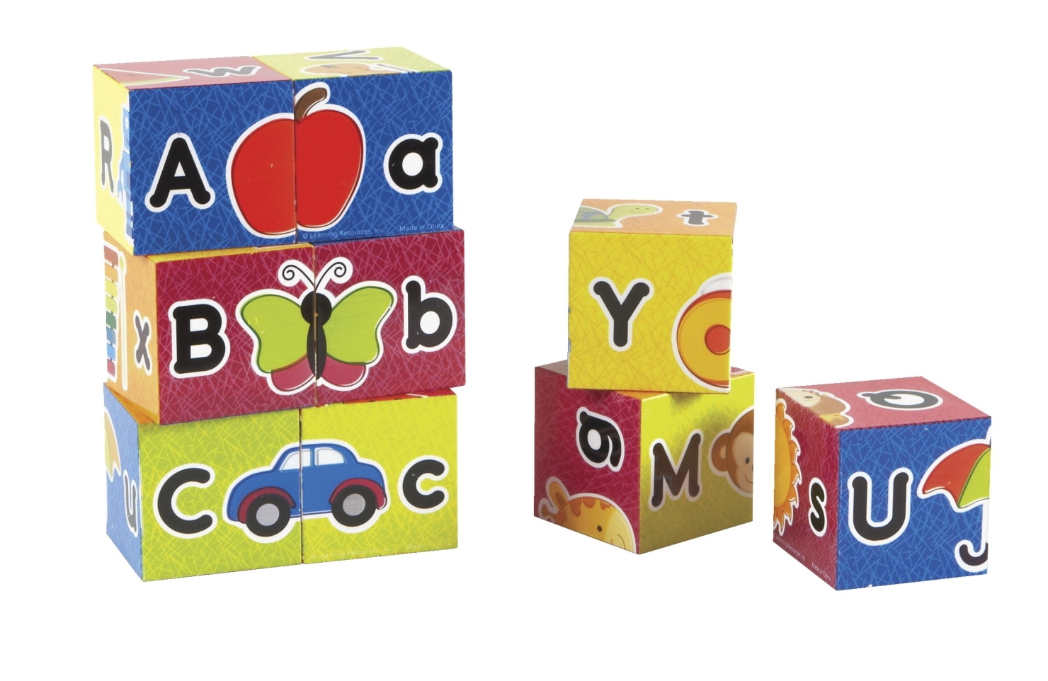 Learning: Classroom Reading & Writing Resources Alphabet Activities - 1533668 - Learning Resources Alphabet Puzzle Blocks; Ages 2 And Above; Set Of 9 1533668