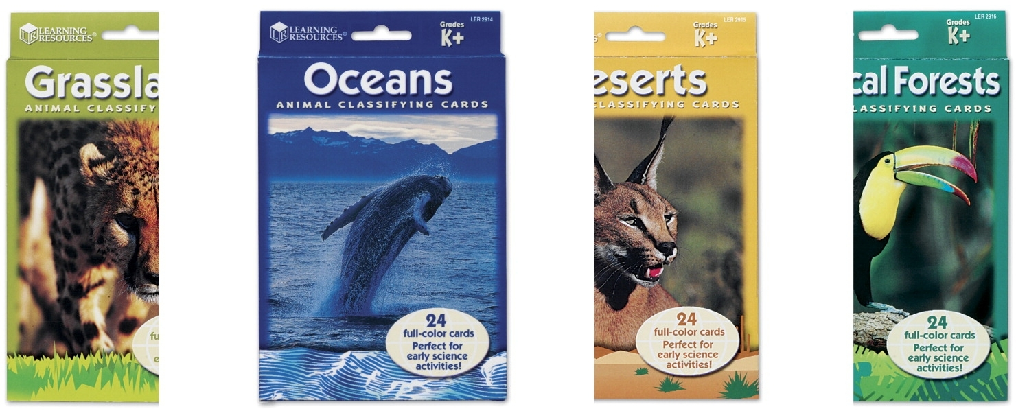 Learning: Science Environmental Activities & Supplies Ecology Books & Resources - 034-0639 - Learning Resources Animal Classifying Card Set 034-0639