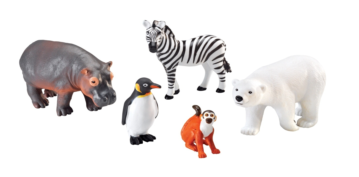 Learning: Supplies Dramatic Play Best Toys For Birthdays Puppet Bear Cub Jumbo Stuffed Animals - 1367952 - Learning Resources Assorted Jumbo Zoo Animals; Set Of 5 1367952