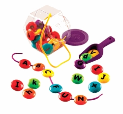 Learning: Classroom Reading & Writing Resources Alphabet Activities - 079239 - Learning Resources Smart Snacks Abc Lacing Sweets; 36 Pieces 079239