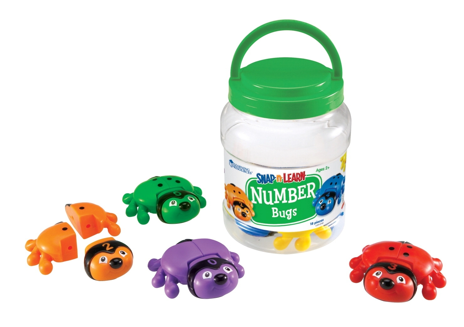 Learning: Supplies Classroom Supplies Math Numbers & Counting - 1327516 - Learning Resources Snap-n-learn Number Bugs; 18 Pieces 1327516