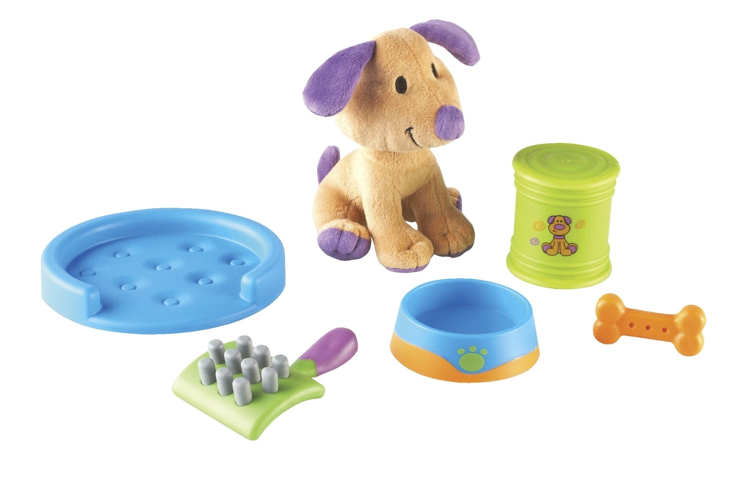 Learning: Play Dramatic Play Housekeeping - 1533485 - Learning Resources New Sprouts Puppy Play; Set Of 6 1533485
