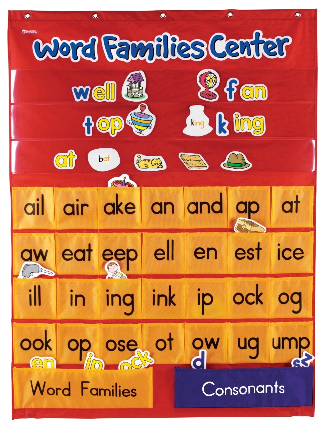 Learning: Classroom Reading & Writing Resources Learning Centers & Learning Charts - 081536 - Learning Resources Word Families And Rhyming Center Pocket Chart 081536