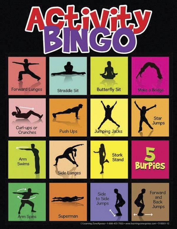 Sports & Fitness Physical Education & Sport Physical Education Resources Spark Curriculum & Resources - 1491569 - Learning Xpress Physical Activity Bingo Game; All Ages 1491569