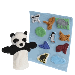 Learning: Play Dramatic Play Dolls & Doll Clothes - 1531965 - Marvel Education Puppet And Props For Panda Bear Panda Bear; Set Of 12 1531965