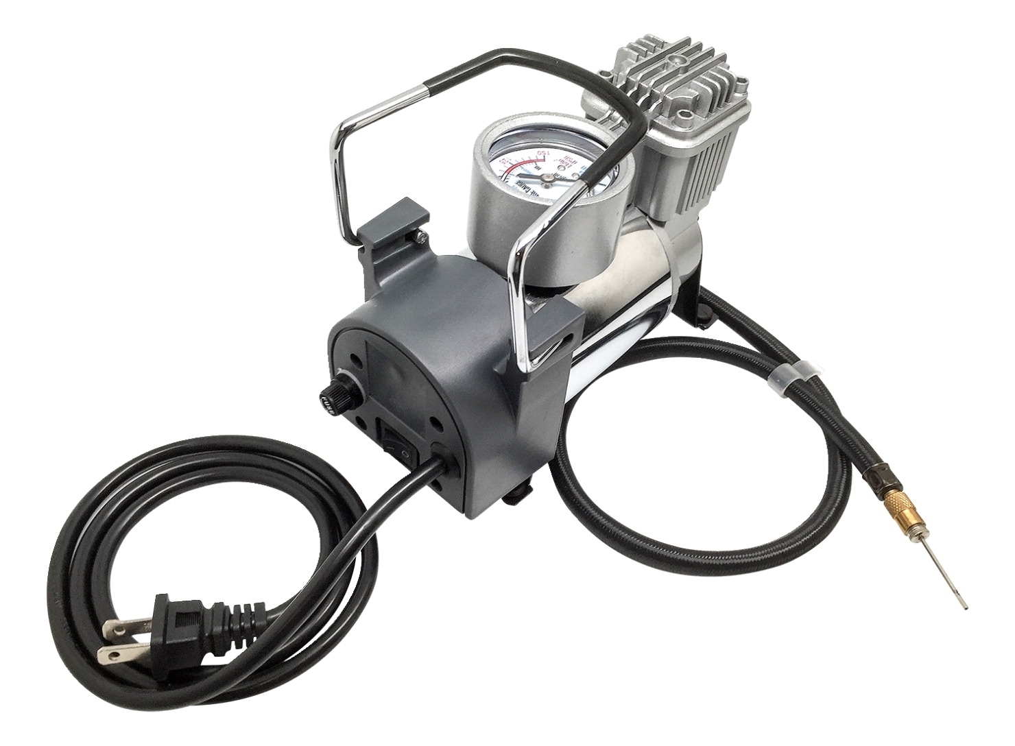 Sports & Fitness Physical Education & Sport Organization Ball Pumps & Inflators - 1507822 - Mikasa M80 Electric Air Inflator; 110v/60hz Ac; 1/8 Hp; 40 Psi; Steel 1507822