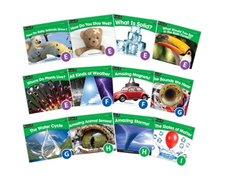 Learning: Classroom Common Core Standards & Resources Science Content Readers & Books - 1565200 - Newmark Learning Rising Readers Levels E-i Volume 2 Book Set 1565200