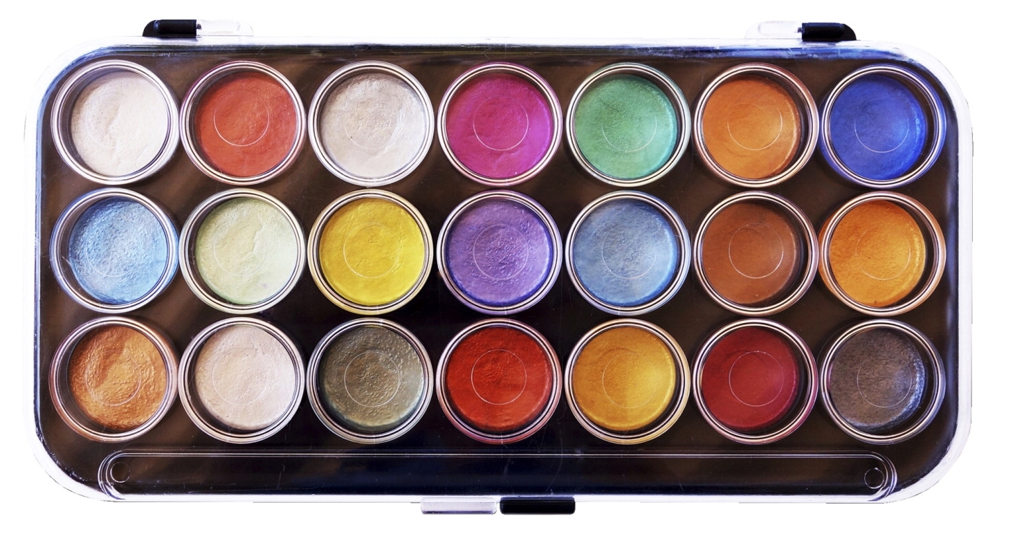 Learning: Classroom Arts & Crafts Paints Watercolor Paints - 1289881 - Niji Yasutomo Watercolor Paint Set; Assorted Pearlescent Color; Set Of 21 1289881