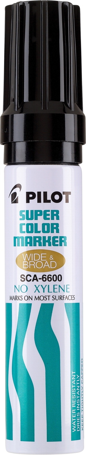 Learning: Supplies Writing Supplies Markers Permanent Markers - 1465728 - Pilot Super Color Permanent Marker; Jumbo; Black 1465728