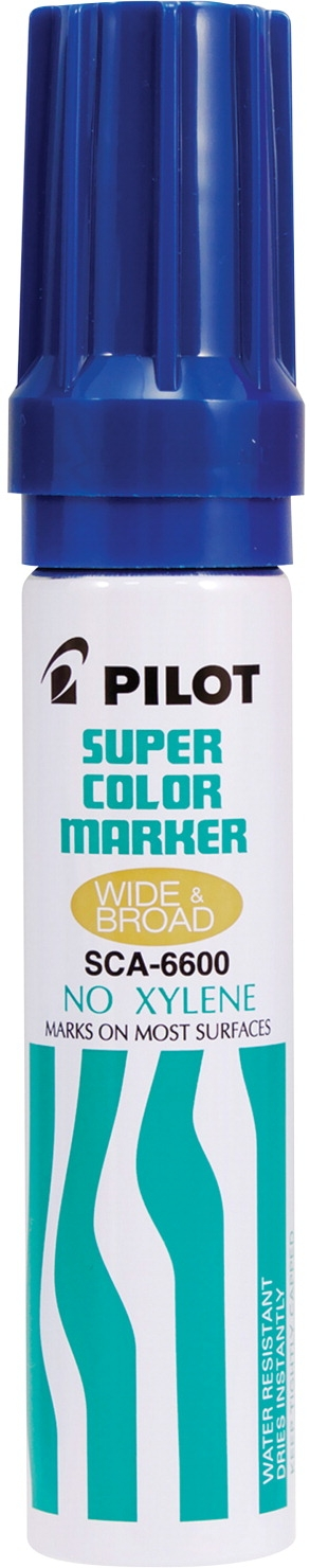 Learning: Supplies Writing Supplies Markers Permanent Markers - 1465730 - Pilot Super Color Permanent Marker; Jumbo; Blue 1465730