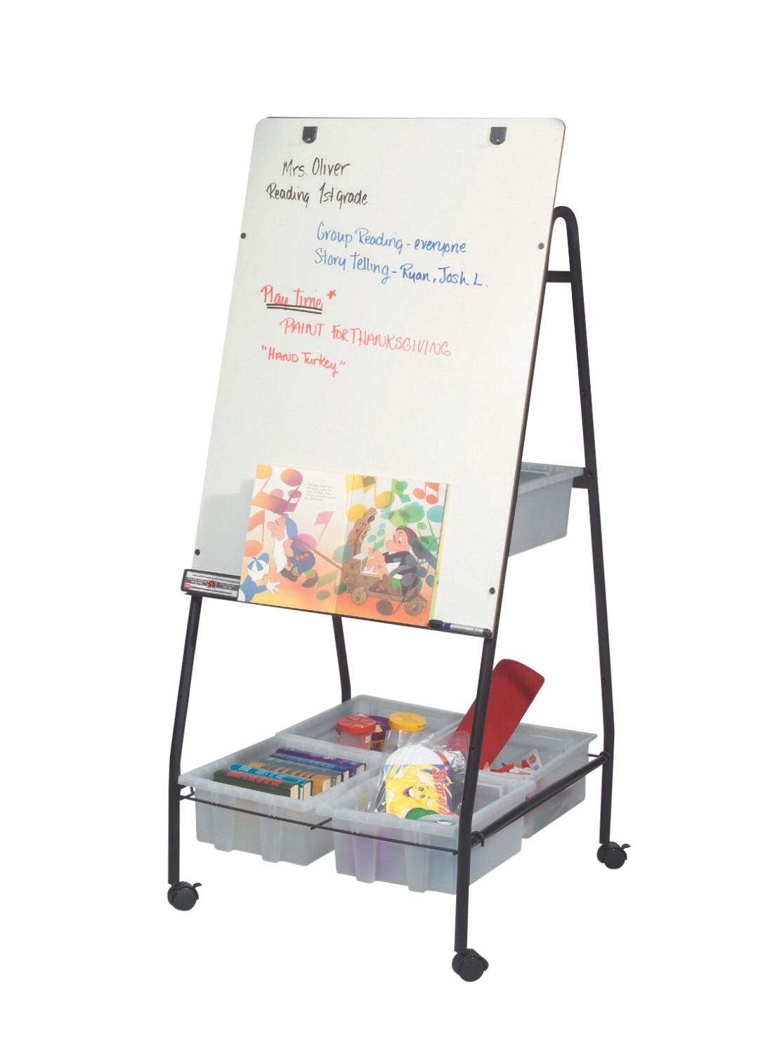 Learning: Supplies Furniture Easels Presentation Easels - 082965 - Best-rite Wheasel Dry Erase Wheeled Storage Easel; 28-1/2 X 29 X 58 Inches; Porcelain 082965