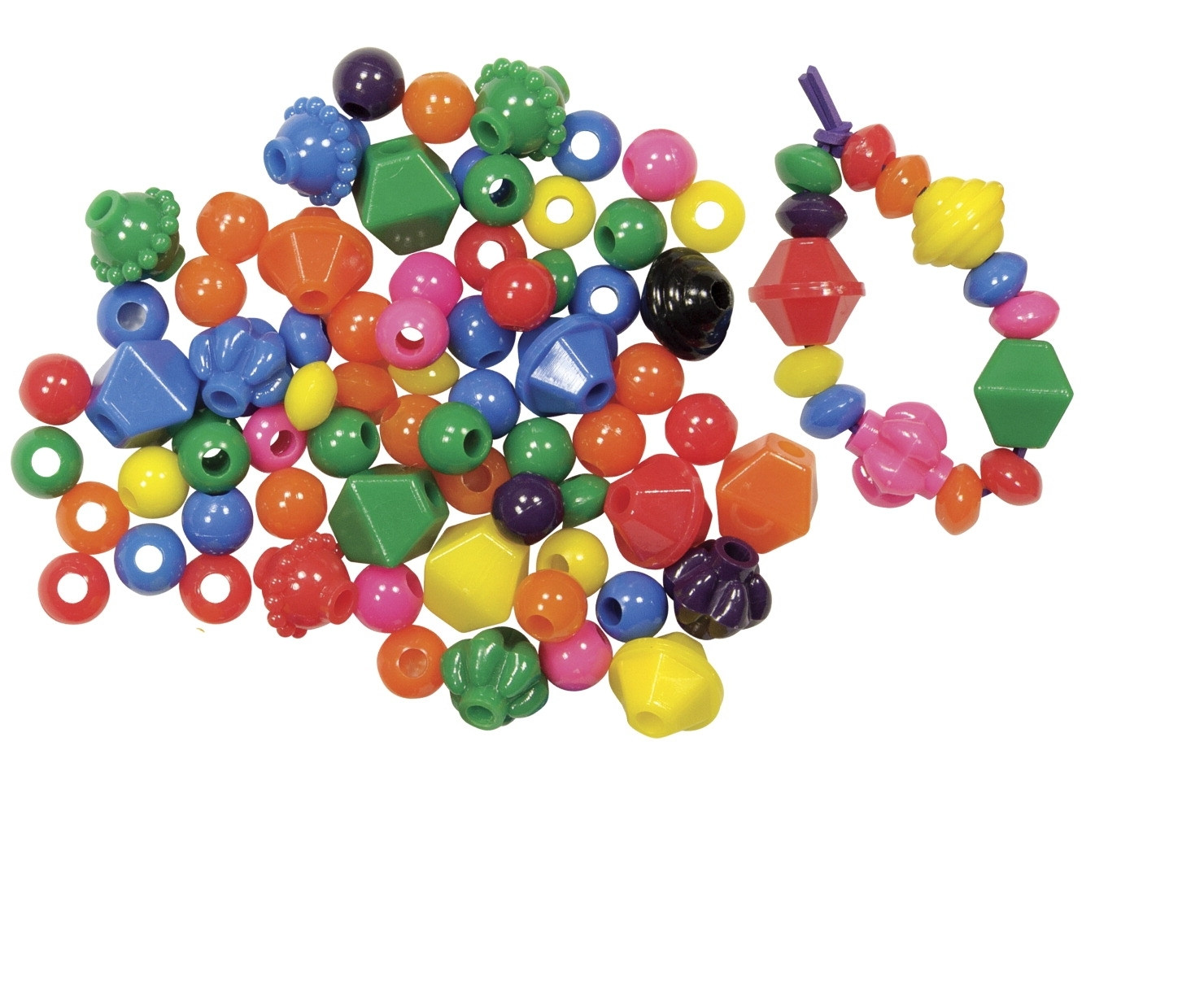 Learning: Supplies Art & Craft Supplies Beads & Beading Supplies - 1526155 - Roylco Oversized Bead; Assorted Size; Assorted Colors; Pack Of 100 1526155