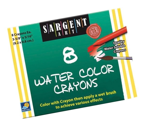 Learning: Supplies Art & Craft Supplies Crayons Specialty Crayons - 401342 - Sargent Art Non-toxic Water Soluble Watercolor Crayon Set; 5/16 X 3-5/8 In; Assorted Color; Set Of 8 401342