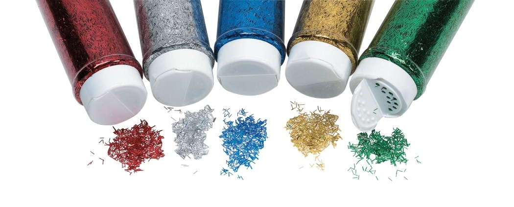 Learning: Classroom Arts & Crafts Crafts Sand Art & Glitters - 1451286 - School Smart Glitter; 2 Ounce Jar; Assorted Colors; Set Of 5 1451286