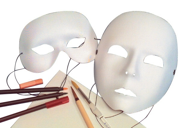 Learning: Classroom Arts & Crafts Crafts General Craft Materials - 402834 - School Specialty Deluxe Wearable Satin Half Mask 402834