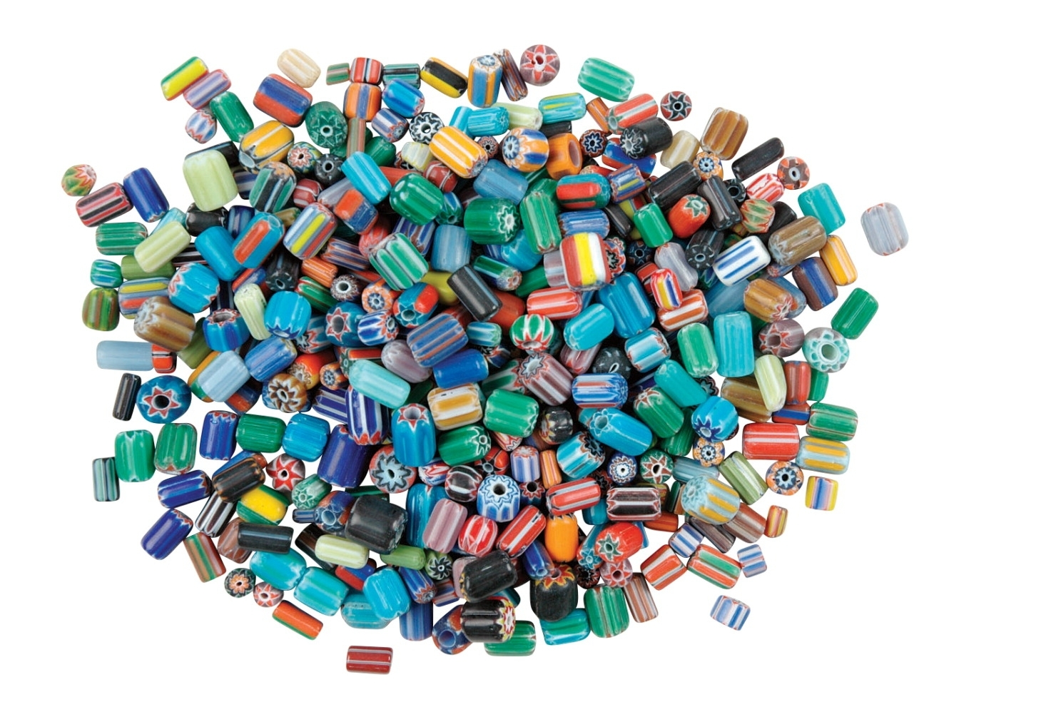 Learning: Supplies Art & Craft Supplies Beads & Beading Supplies - 408056 - School Specialty Glass Assorted Shape Bead; 5-8 Mm; Assorted Color; 0.5 Lb 408056
