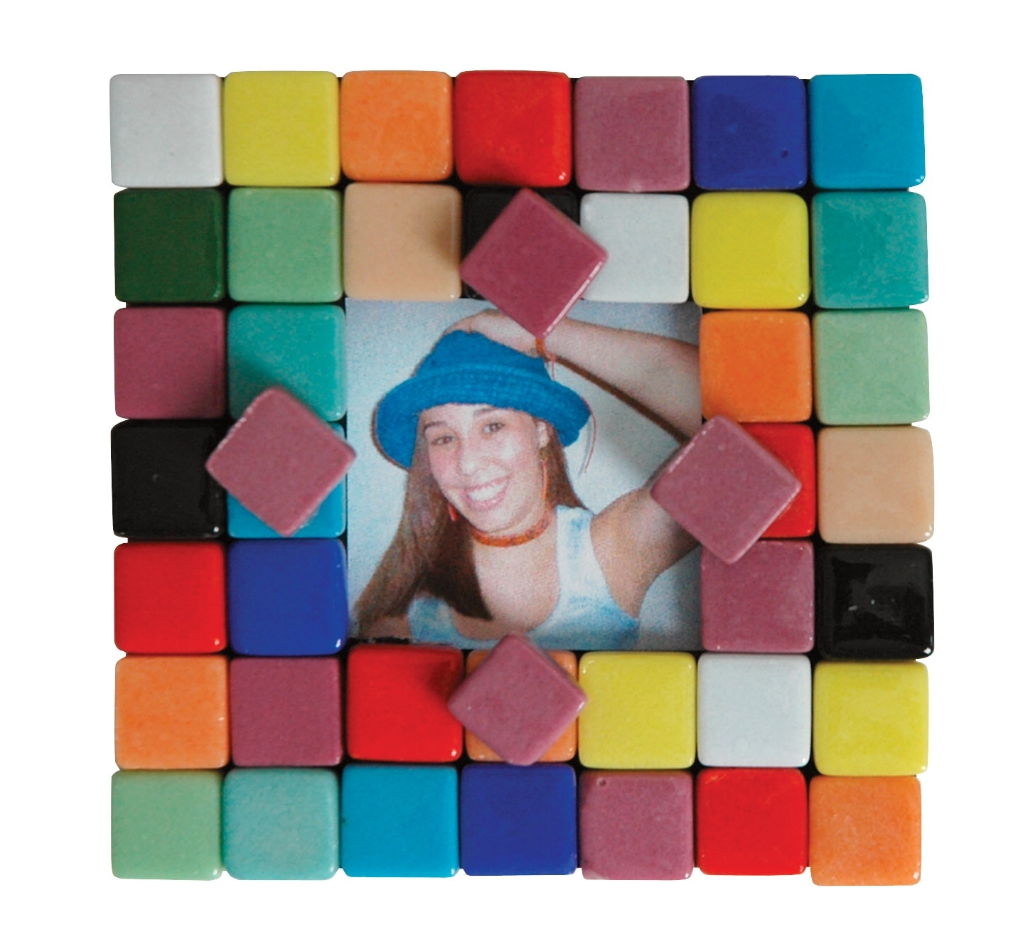 Learning: Classroom Arts & Crafts Crafts Mosaics - 411426 - School Specialty Mosaic Picture Frame Magnet Kit 411426