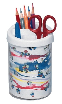 Learning: Supplies Desk Accessories Desktop Organizers - 452429 - School Specialty Plastic Cup Pencil And Pen Cup; White 452429
