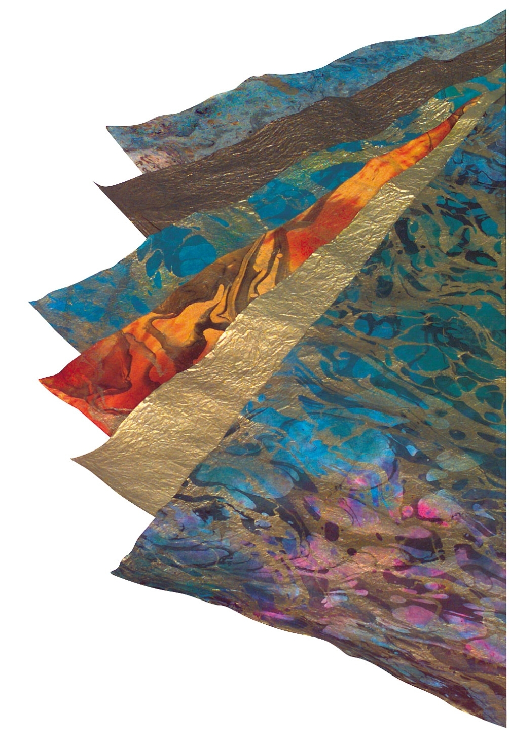 Learning: Classroom Paper Art Paper Decorative Paper - 405618 - School Specialty Thai Marble And Metallic Paper; Assorted Size; Assorted Color; Pack Of 6 405618
