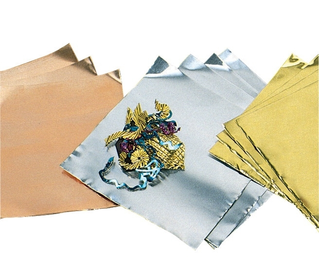 Learning: Classroom Arts & Crafts Crafts Paper Crafts - 578774 - St Louis Crafts Pre-cut Aluminum Decorator Foil; 5 X 5 In; 36 Ga; Aluminum; Pack Of 12 578774