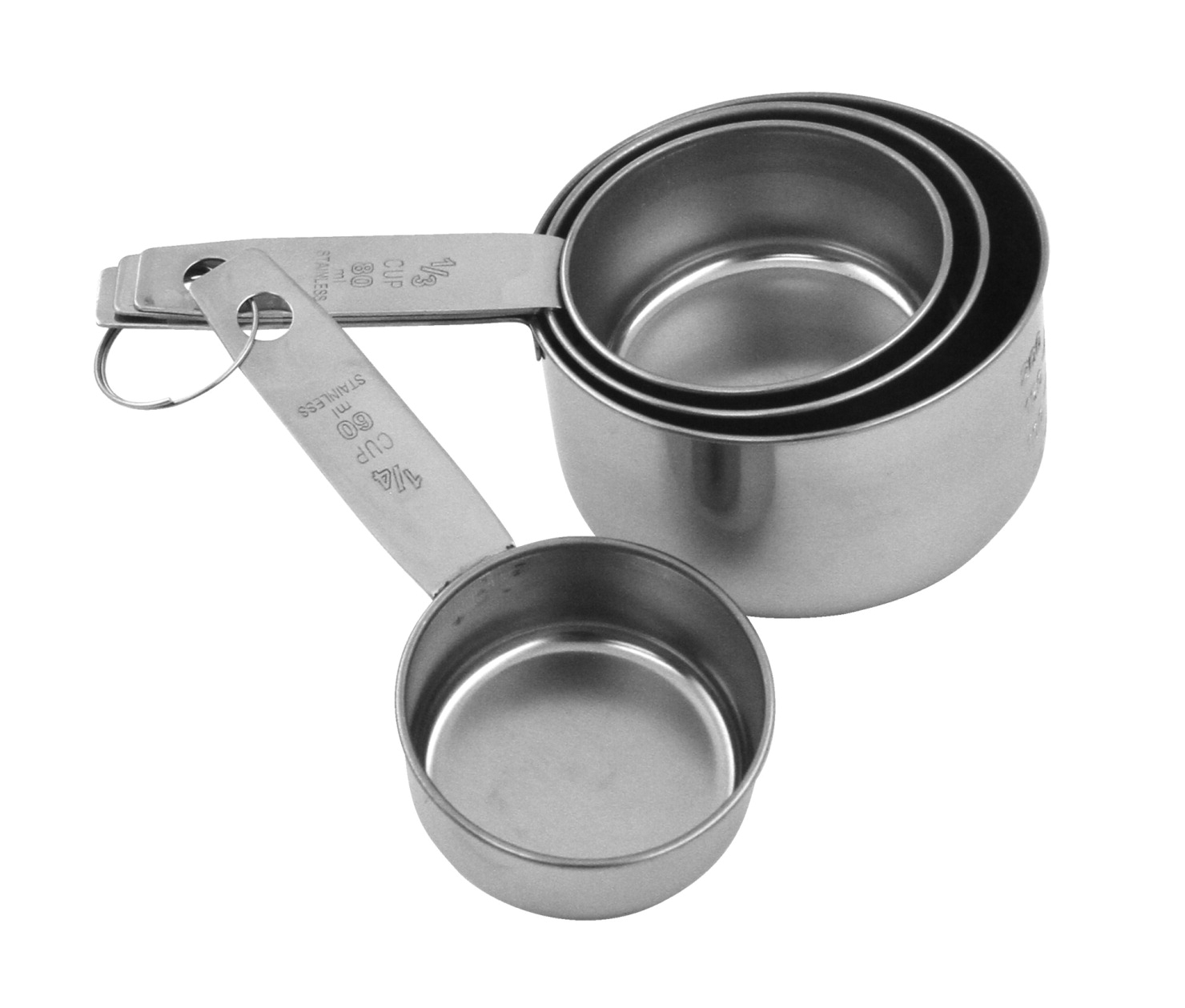 Learning: Supplies Cleaning Food Service Kitchen Utensils & Kitchen Tools - 425747 - Sunbeam Durable Dishwasher Safe Measuring Cup Set With Metric Equivalents; Stainless Steel; Set Of 4 425747
