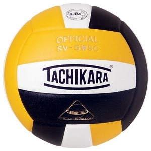 Sports & Fitness Physical Education & Sport Balls Volleyballs - 029395 - Tachikara Sv-5wsc Nfhs Composite Leather Volleyball; Gold/white/black 029395