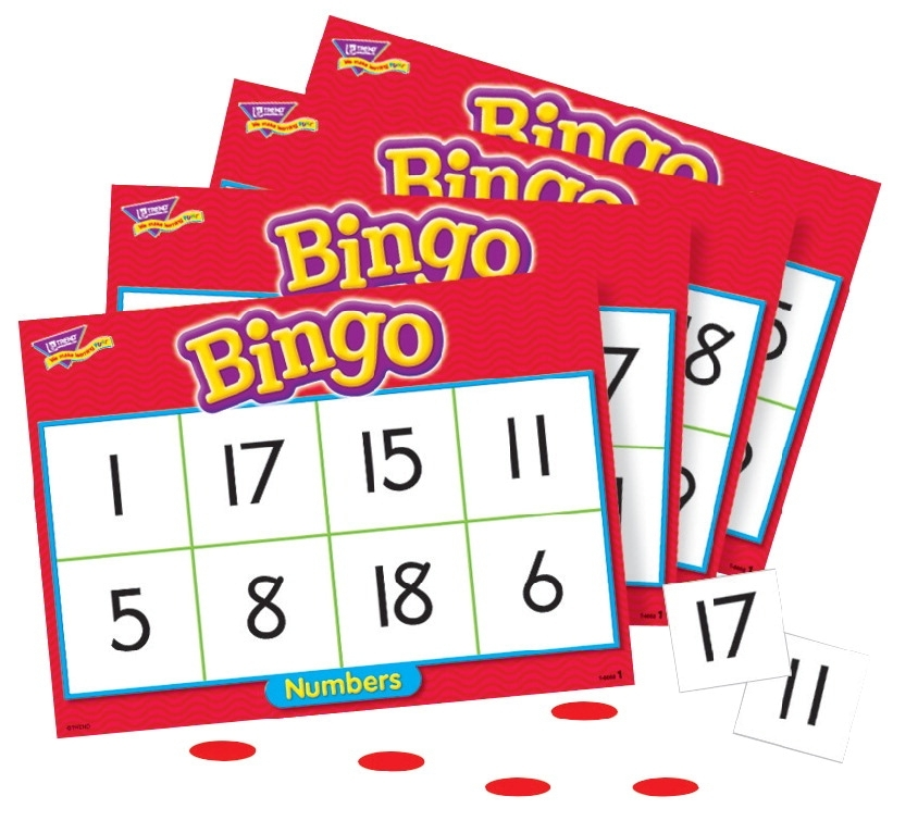 Sports & Fitness Physical Education & Sport Team Building Activities & Equipment Team Building Activities & Games - 241526 - Trend Numbers 1 To 20 Bingo Game-set Of 36 Cards; 250 Markers; Caller Card; Storage Box 241526