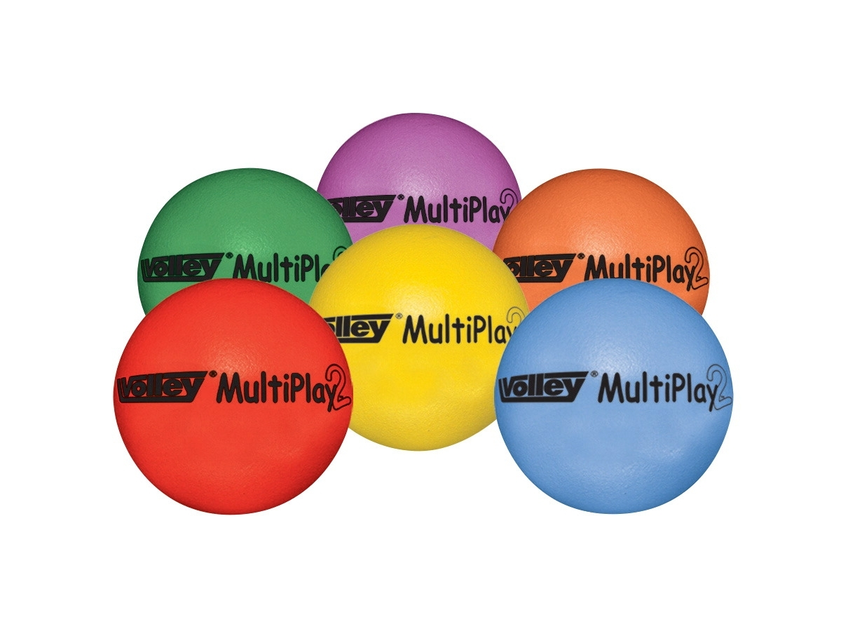 Sports & Fitness Physical Education & Sport Team Building Activities & Equipment Team Building Activities & Games - 030481 - Volley 3-1/2 In Superskin-2 Multiply Medium Bounce Foam Balls; Set Of 6 030481