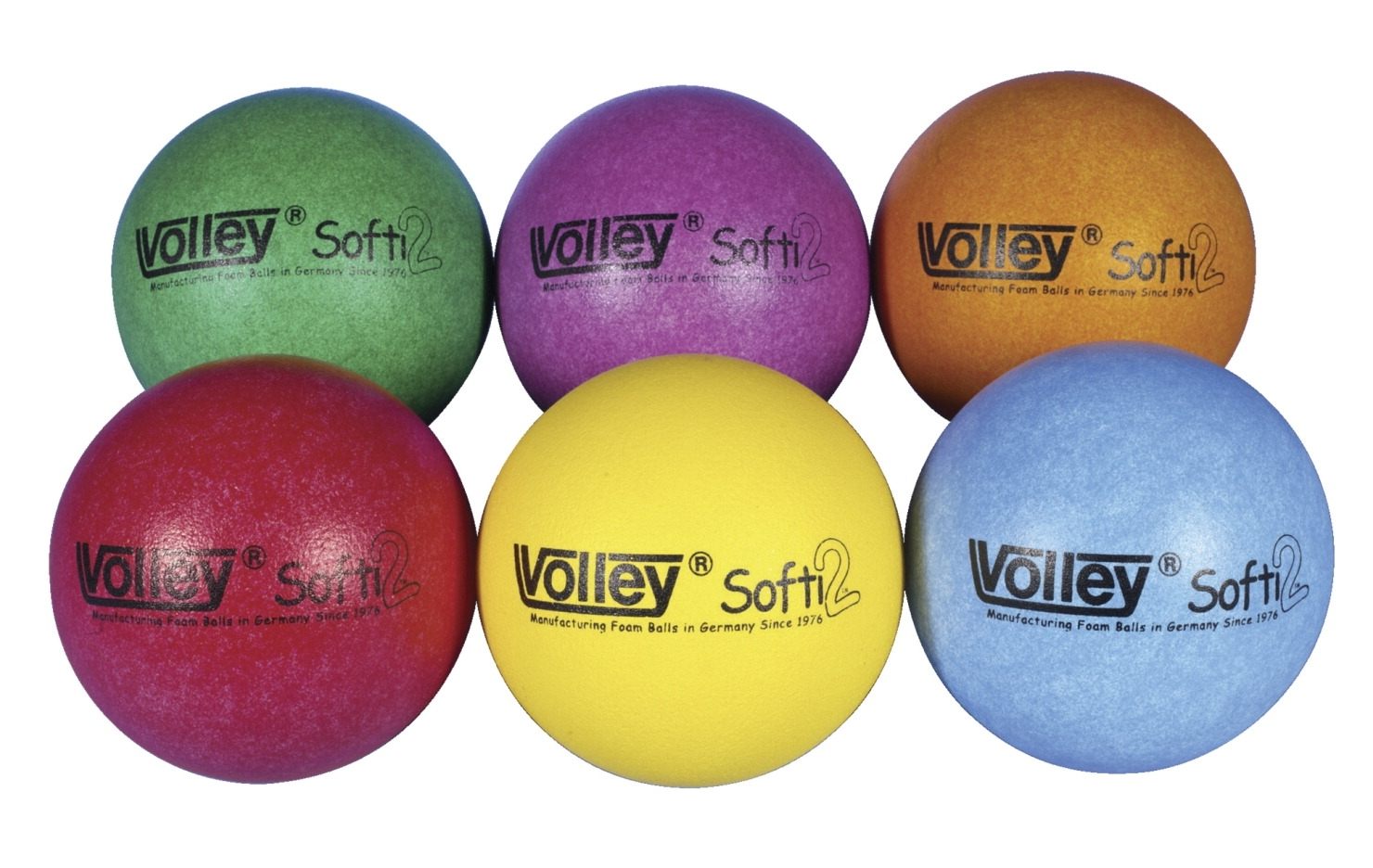 Sports & Fitness Physical Education & Sport Team Building Activities & Equipment Team Building Activities & Games - 030484 - Volley Superskin-2 Softi Very Low Bounce Balls; Set Of 6 030484