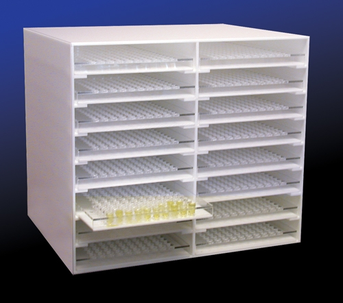 "Learning: Science Lab Equipment & Supplies Aqueous Flat Cells Tissue Sample Cell - 159554-0001 - Sample Cup Storage Rack 10""w X 15.5""d X 1""h 159554-0001"