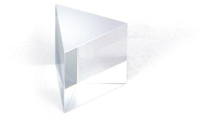 3B Scientific U14052, 30mm x 30mm 60 deg. Flint Glass Prism U14052