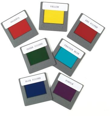 Set Of 7 Colour Filters - U19530 - Physics Light & Optics Apertures Diffraction Elements & Filters U19530