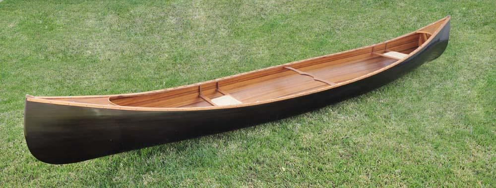 Canoe With Ribs Dark Stained Finish 18 Feet - K045 - Polo Canoe Polo K045
