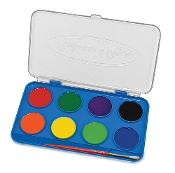 Learning: Classroom Arts & Crafts Paints Watercolor Paints - Mad 4121 - Jumbo Watercolor Paint Set 8 Colors Set Of 20 MAD 4121