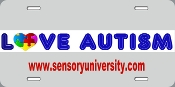 Sports & Fitness Physical Education & Sport Team Building Activities & Equipment Team Building Activities & Games - License Plate - Love Autism License Plate LICENSE PLATE