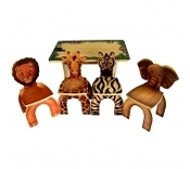Facilities Furniture Early Childhood Tables Activity Tables & Activity Table Sets - Sta7728 - Safari Table And Animal Chairs STA7728