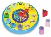 Learning: Classroom Math Sorting Activities & Sorting Trays - 159 - Wooden Shape Sorting Clock 159