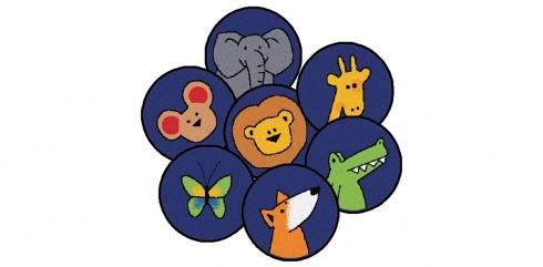 Learning: Play Active Play Carpets Color Carpets Calendar & Number Carpets - 82020 - God's Animals - Set Of 20 82020