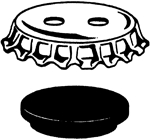Crown Cap And Gasket - Lg-3922-100 - Laboratory Supplies LG-3922-100