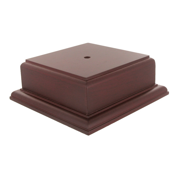 4-1/2 X 2-1/8 Rosewood Finish Base For Bowl Or Cup - Xu3172ro - Awards Trophies XU3172RO