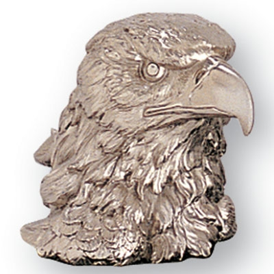 4-1/2 Inch Bright Silver Eagle Head - X7854 - Awards Trophy Eagles Without Plates X7854
