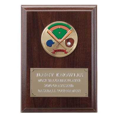 4-1/4 X 6 Inch Plaque With Gold Embossed Plate Takes Insert - Ps6039g - Award Plaques Holding 2 Medallion Inserts PS6039G