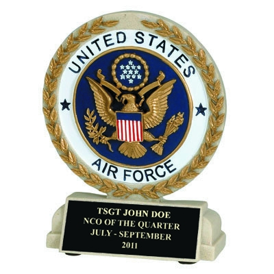 5-1/2 Inch U.s. Air Force Resin Trophy - Xz9929 - Trophies And Awards Component Parts XZ9929