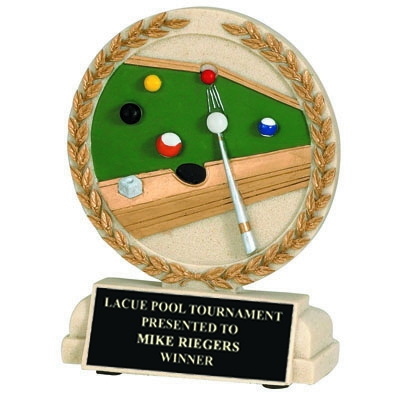 Tennis Trophies & Awards Trophies - Xz9927 - 5-1/2 Inch Billiards Stone Resin Trophy XZ9927