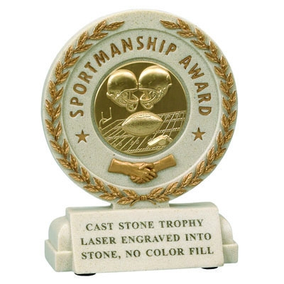5-1/2 Inch Sportsmanship Resin Trophy Without Plate - X9254 - Award Component Parts Sport Trophies Plates X9254