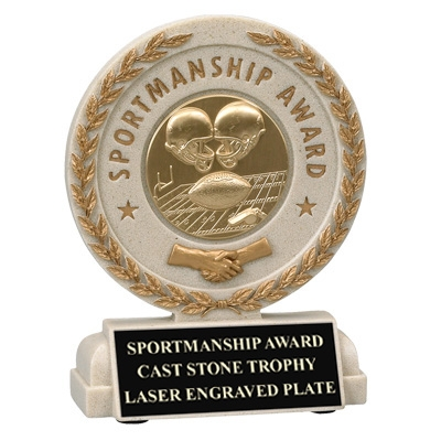 5-1/2 Inch Sportsmanship Resin Trophy; Takes Insert - Tr7055 - Trophies Judicial And Government Special Awards TR7055