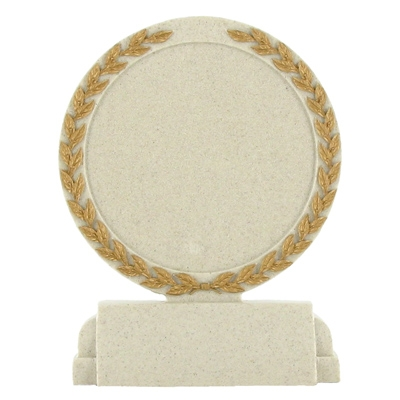 5-1/2 Inch Stone Resin Trophy Plain Center - X9264 - Trophies And Awards Component Parts X9264