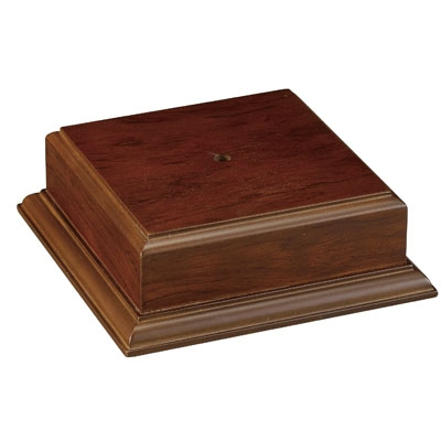 5 X 2-1/8 Walnut Finish Base For Bowl Or Cup - Xu3173 - Awards Trophy Eagles Without Plates XU3173