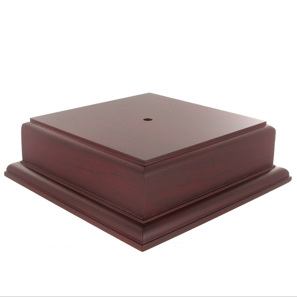 5-3/4 X 2-1/8 Rosewood Finish Base For Bowl Or Cup - Xu3174ro - Awards Trophies XU3174RO