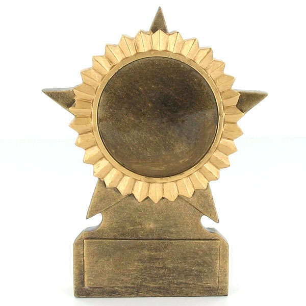 5 Inch Gold Star Resin Trophy; No Plate - F8140 - Award Component Parts Scholastic Trophies Without Plates F8140